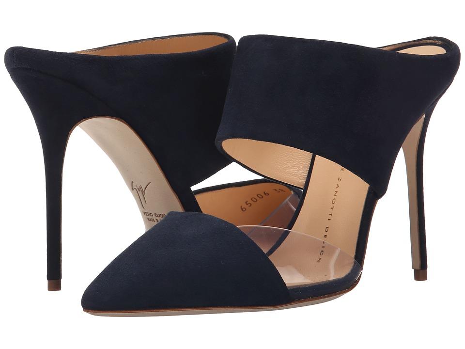Giuseppe Zanotti Two Piece Mule w/ PVC Navy High Heels