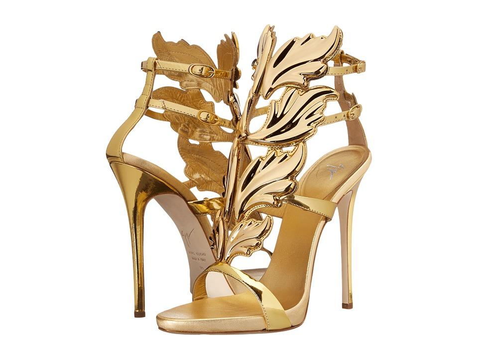 Giuseppe Zanotti High Heel Winged Sandal Shooting Oro Womens Shoes