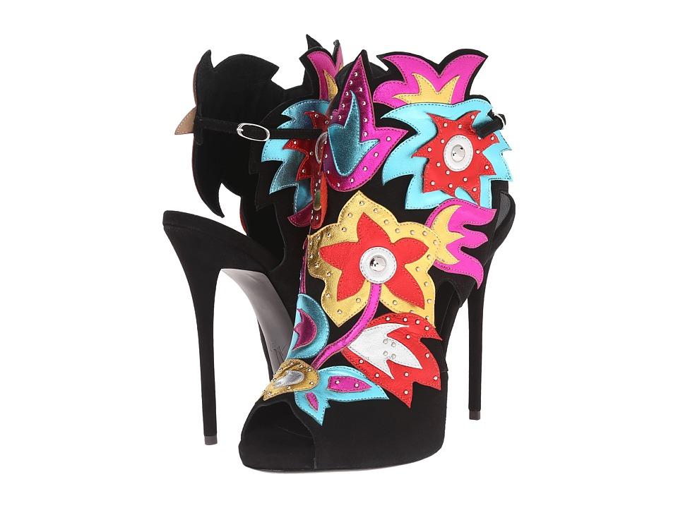 Giuseppe Zanotti Open Back Applique Pump Nero Womens Shoes