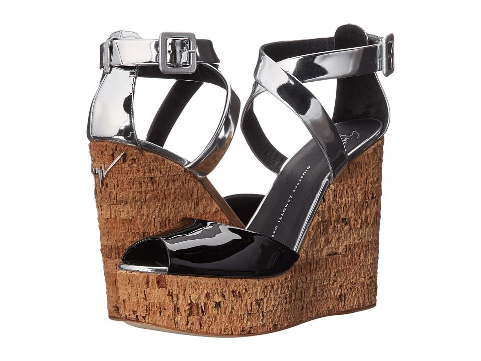 Giuseppe Zanotti Two Tone Criss Cross Ver Nera Womens Wedge Shoes