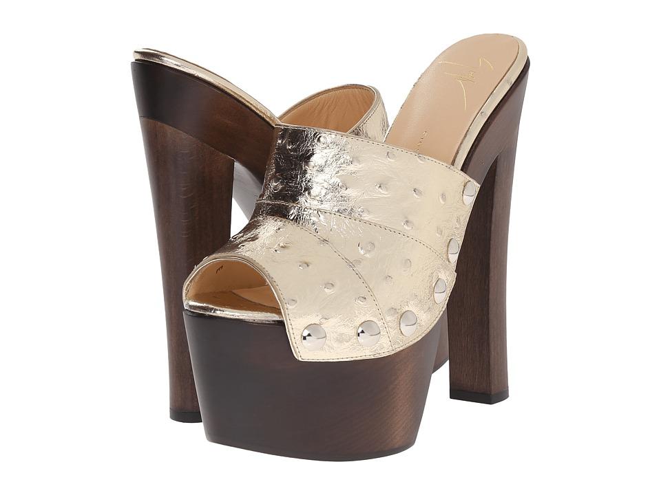 Giuseppe Zanotti Print High Clog w/ Studs Stuky Platino Womens Shoes