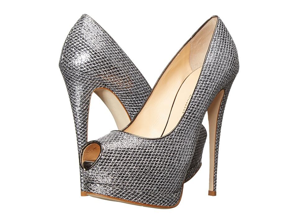 Giuseppe Zanotti Platform Peeptoe Pump Ruby Anthracite Womens Shoes