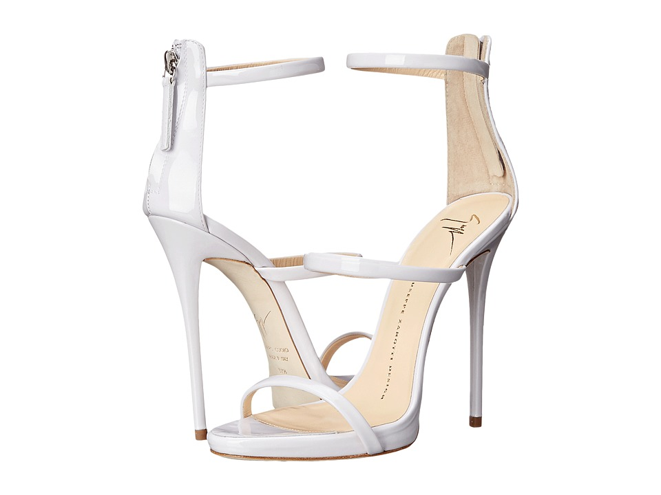Giuseppe Zanotti High Heel Back Zip Three Strap Sandal Ver Ice Womens Shoes