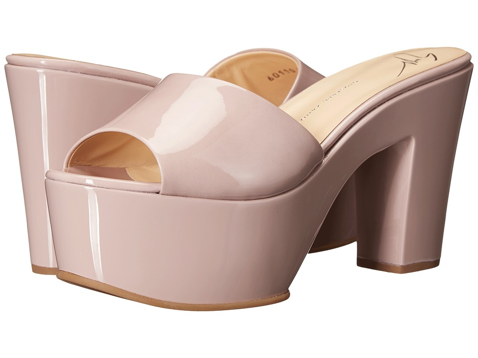 Giuseppe Zanotti Patent Open Toe Clog Ver Rosa Womens Shoes