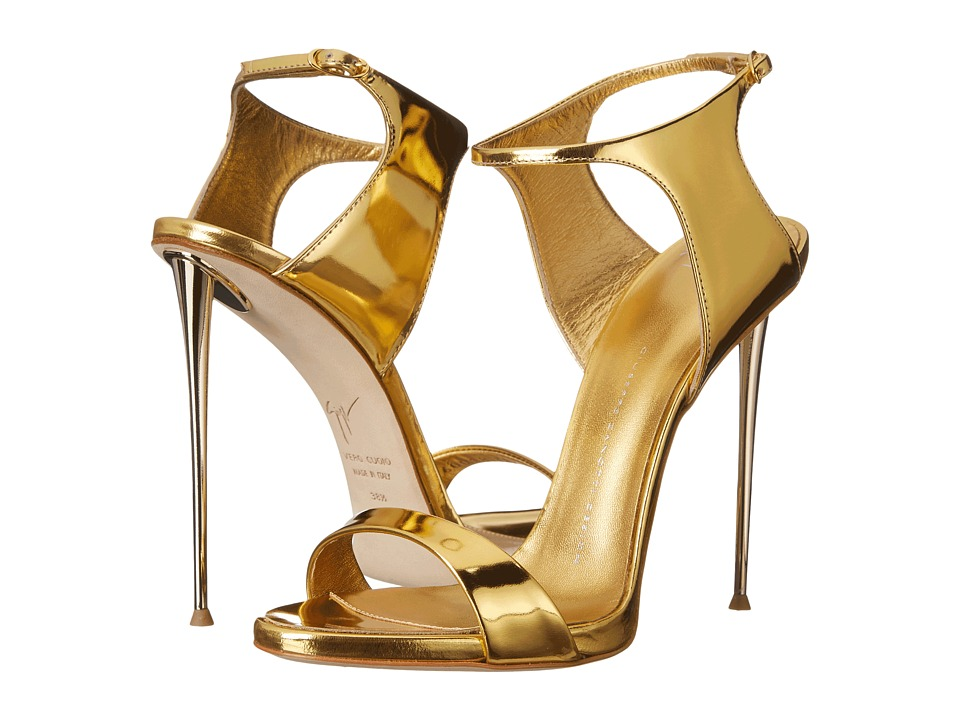 Giuseppe Zanotti - Back Buckle Slide (Shooting Oro) High Heels