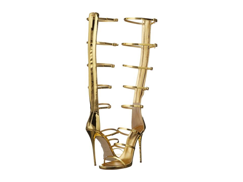 Giuseppe Zanotti Strappy Knee High Shooting Oro Womens Shoes