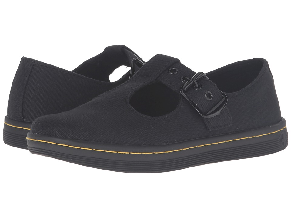 Dr. Martens Woolwich T Bar (Black Canvas) Maryjanes