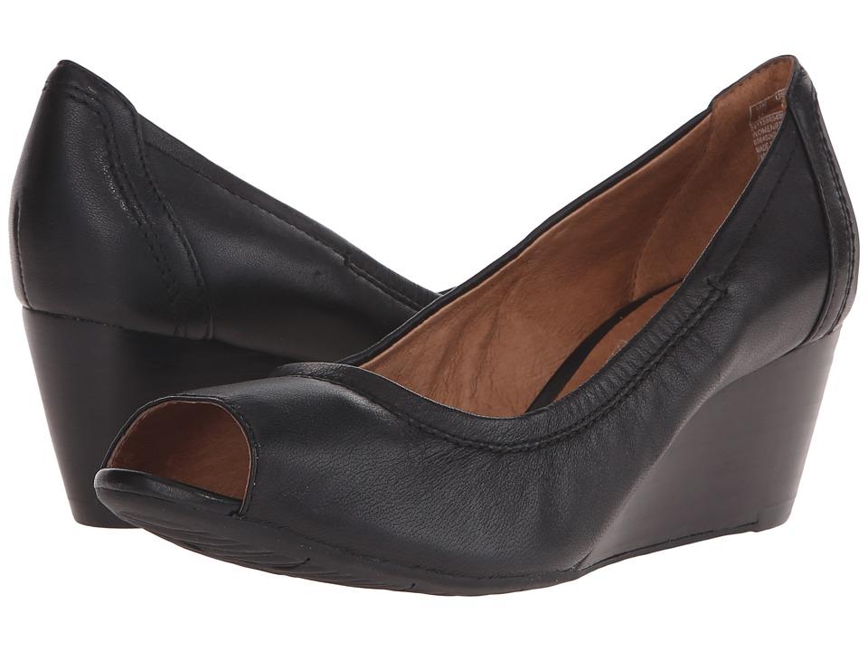 Clarks Burmese Art Black 1 Womens Wedge Shoes