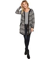 kensie - Tissue Knit Stripe Cardigan Hoody KSDK5845