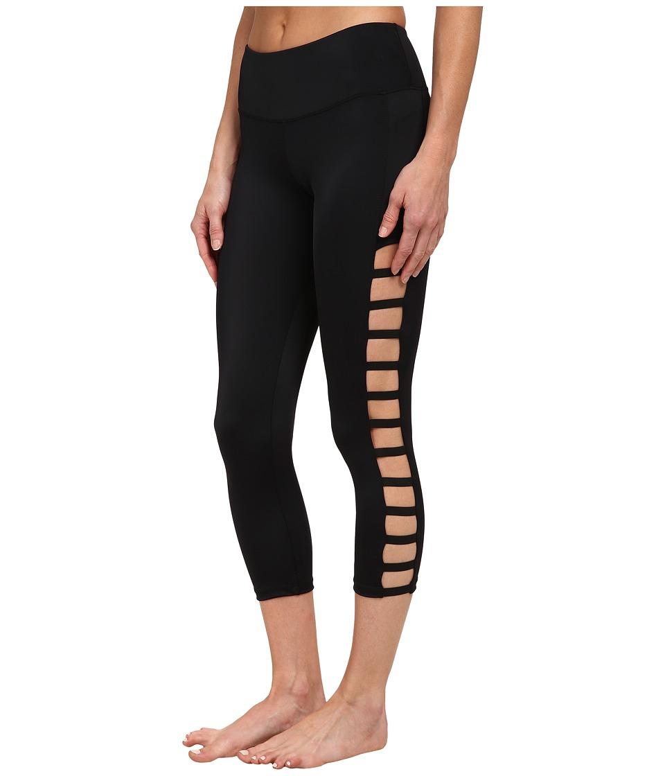 Onzie Elastic Side Capri Pants Black Womens Capri