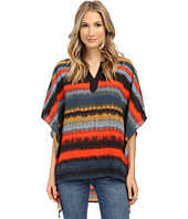 kensie - Noisy Stripes Poncho Top KS1K4492
