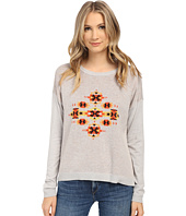 kensie - Speckled Melange Knit Aztec Sweater KS1K5859