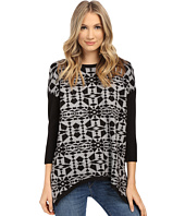 kensie - Soft Viscose Blend Aztec Sweater KS1K5857