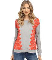 kensie - Lace Print Sweatshirt KS1K3893