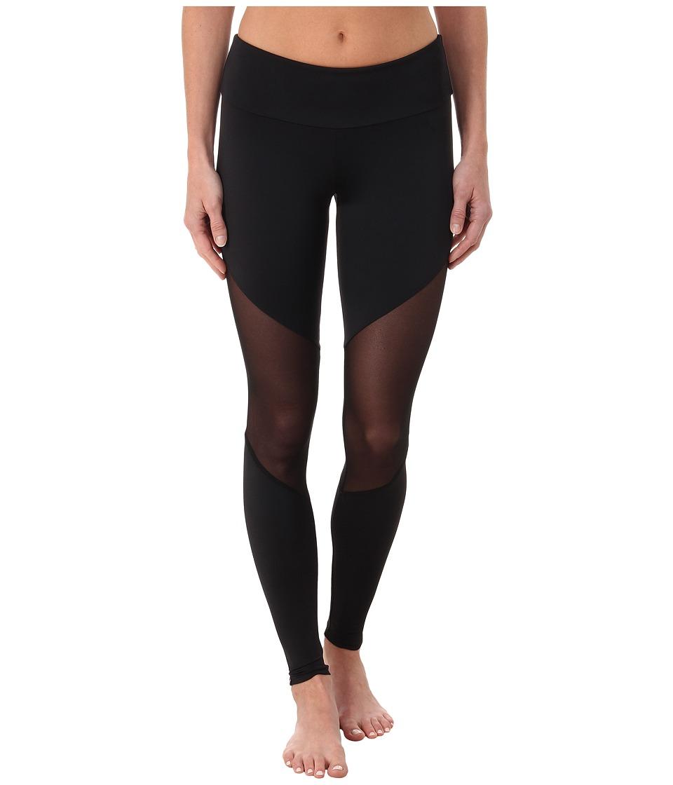 Onzie Track Leggings Black/Mesh/Black Womens Casual Pants