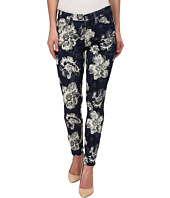 7 For All Mankind - Ankle Skinny Indigo Jeans in Floral Jacquard