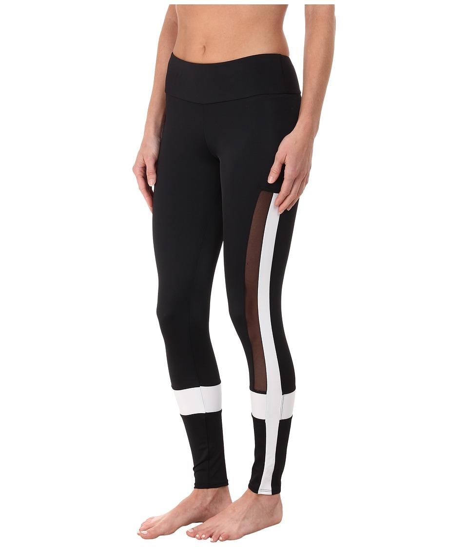 Onzie Power Leggings Black/White/Mesh Womens Casual Pants