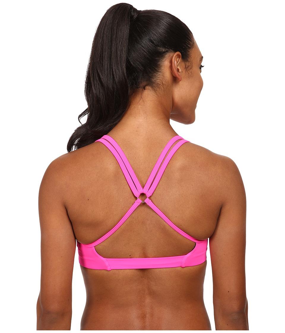 Onzie Circle Bra Top Neon Pink Womens Clothing