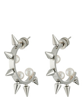 Majorica - Spiked Pearl Hoop Earrings