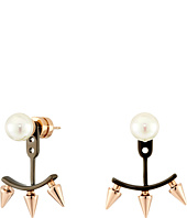 Majorica - Spiked Pearl Earrings w/ Jacket