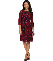 Adrianna Papell - Three Quarter Sleeve Fit & Flare Dress
