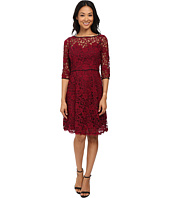 Adrianna Papell - Sweetheart and Illusion Fit & Flare Lace Dress