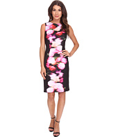 Adrianna Papell - Photoreal Placed Floral Print Dress