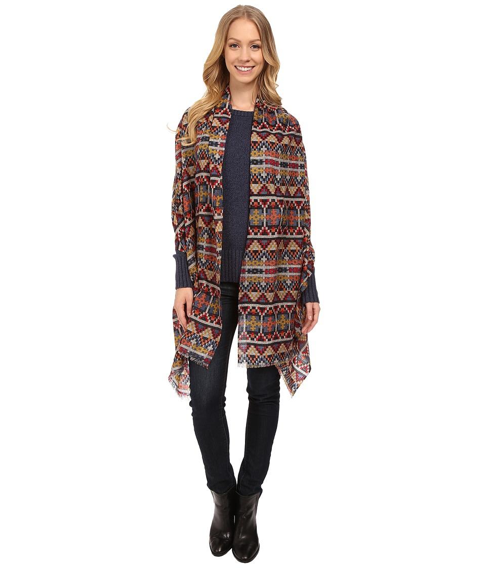 Pendleton Printed Featherweight Wool Shawl Geo Tapestry Womens Sweater