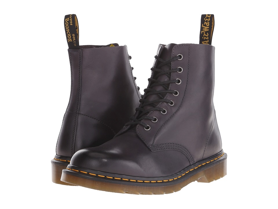 Dr. Martens - Pascal 8-Eye Boot (Charcoal Temperley) Men