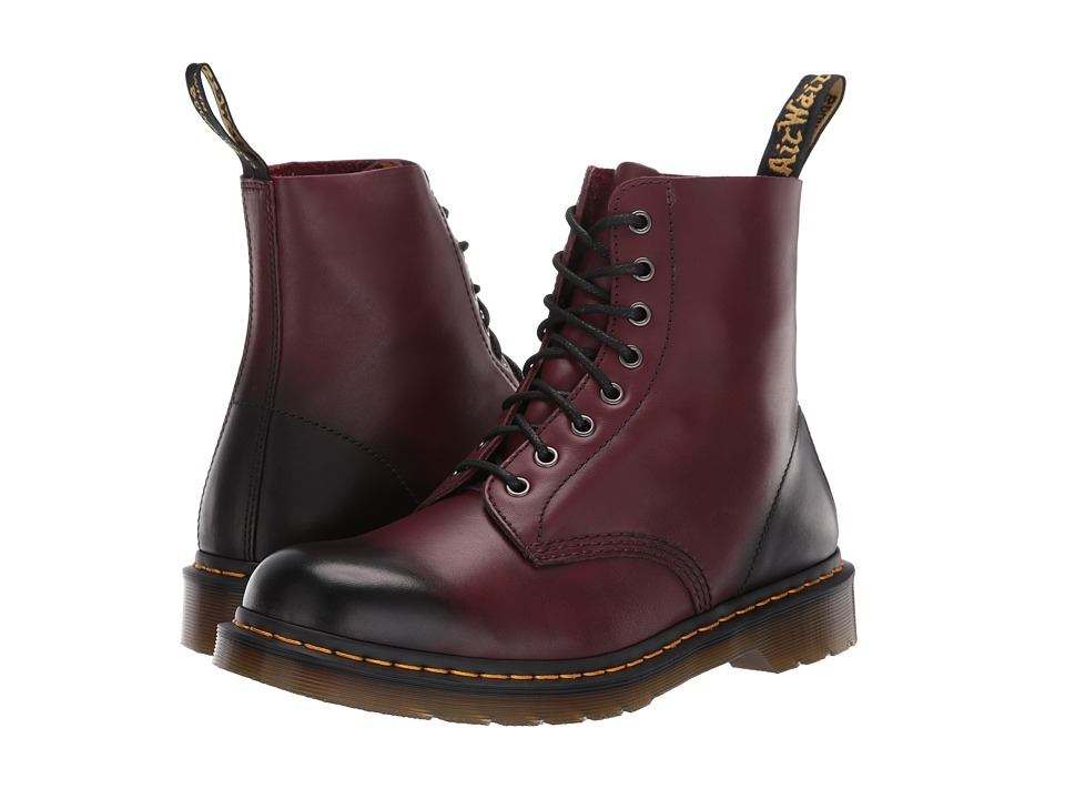 Dr. Martens - Pascal 8-Eye Boot (Cherry Red Temperley) Mens Lace-up Boots
