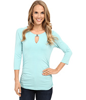 Vince Camuto - 3/4 Sleeve Keyhole Top w/ Hardware