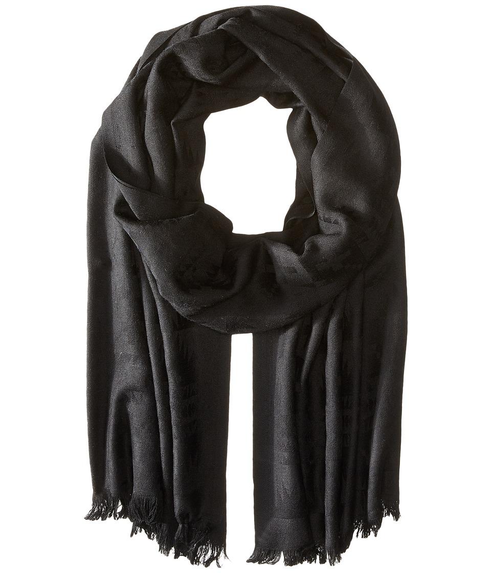 Pendleton Luxe Weave Wool Scarf Black Scarves