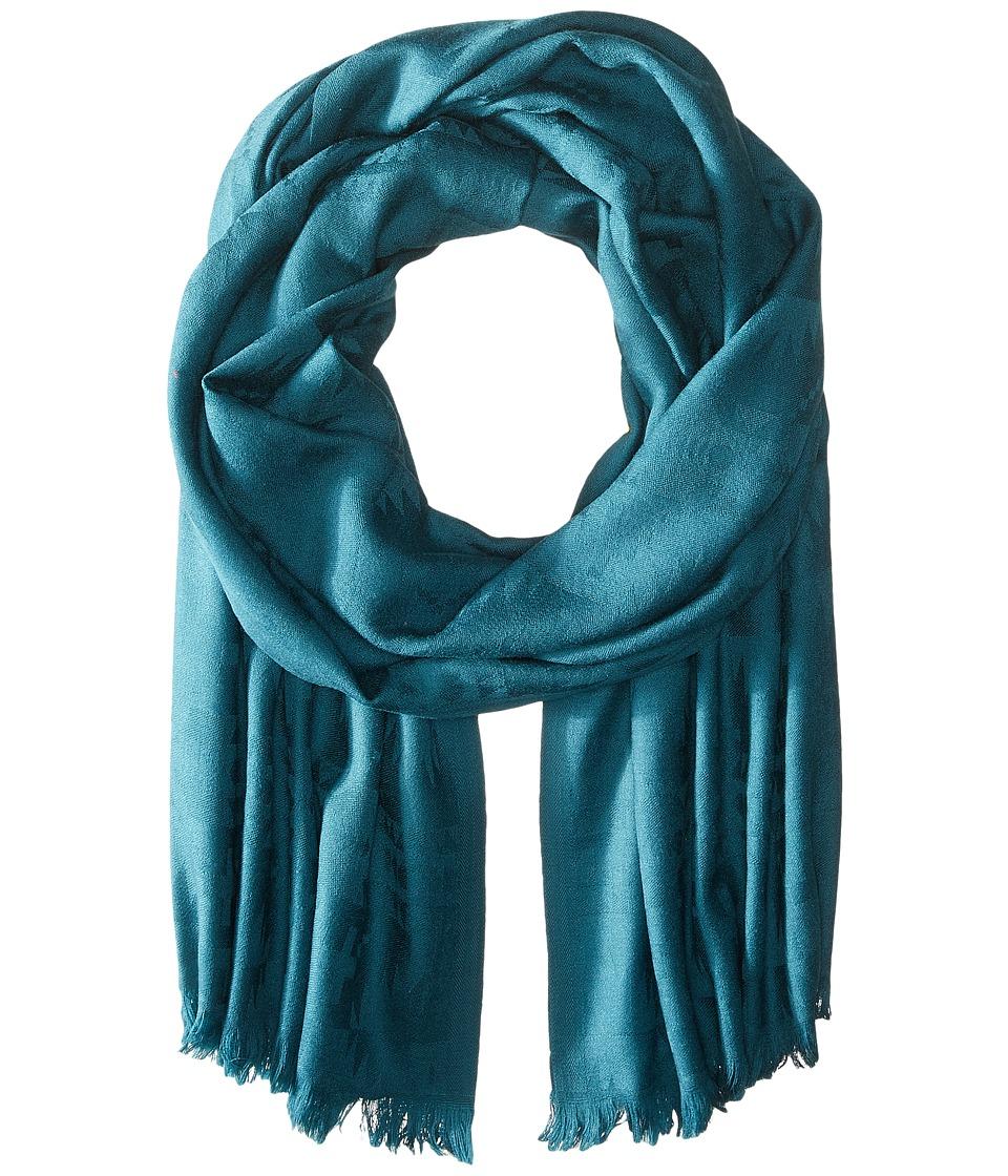 Pendleton Luxe Weave Wool Scarf Dark Teal Scarves