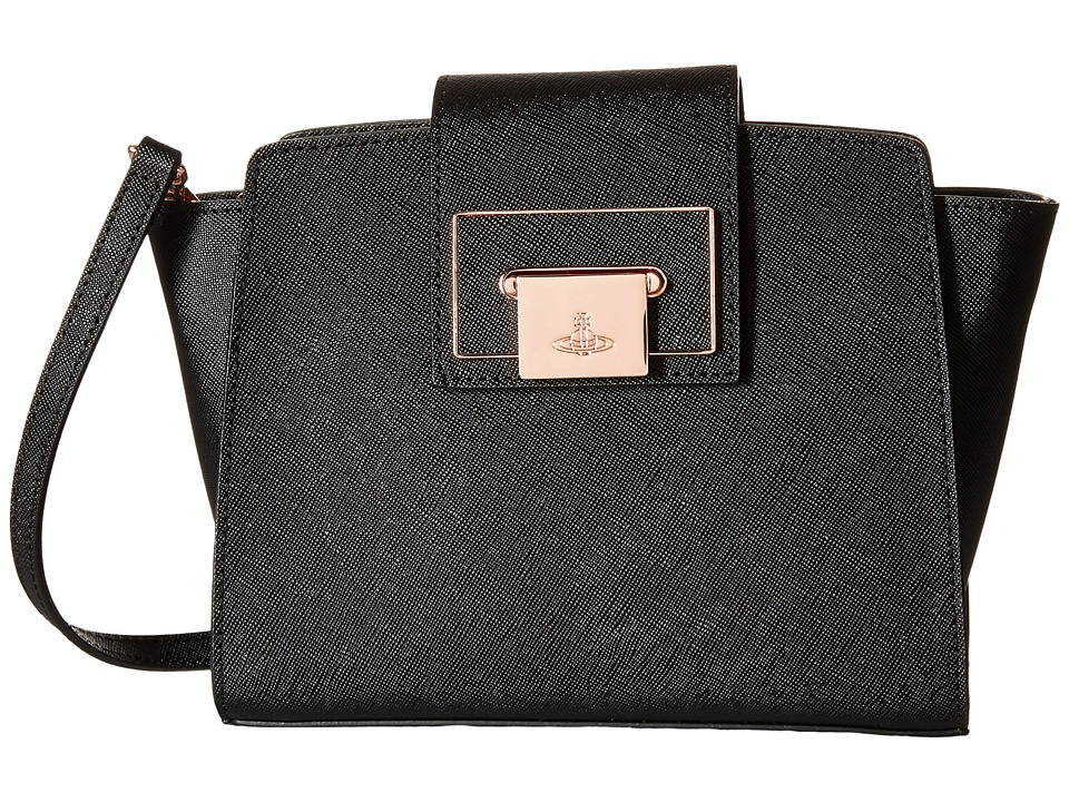Vivienne Westwood - Opio Saffiano (Black) Cross Body Handbags