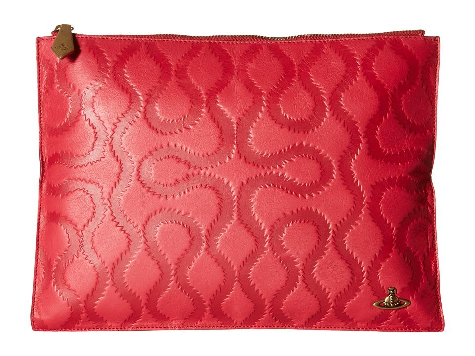 Vivienne Westwood - Squiggle (Coral) Clutch Handbags