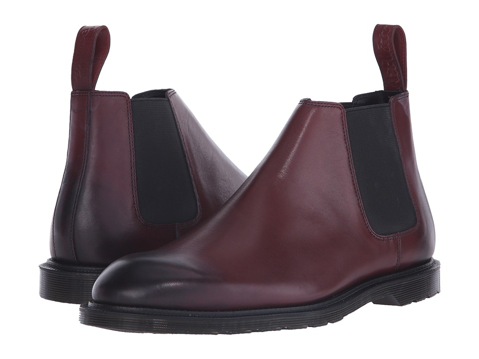 Dr. Martens - Wilde Low Chelsea Boot (Cherry Red Temperley) Men