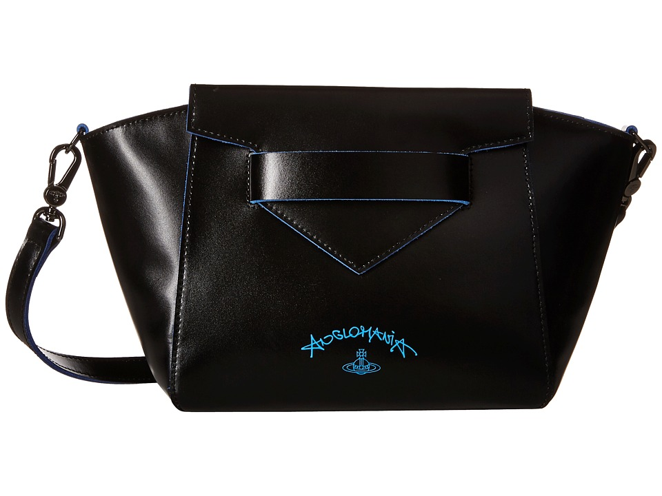 Vivienne Westwood - Split Leather (Black) Cross Body Handbags