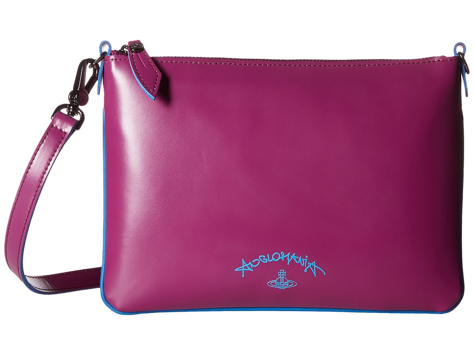 Vivienne Westwood - Split Leather (Purple) Cross Body Handbags