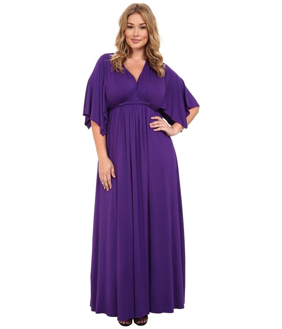 Rachel Pally Plus - Plus Size Long Caftan Dress White Label Royale Womens Dress $264.00 AT vintagedancer.com
