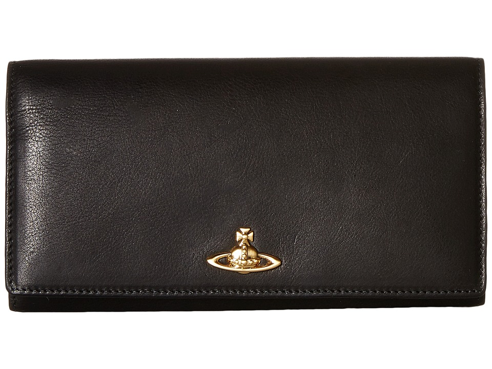 Vivienne Westwood - Horse Brass Leather (Black) Wallet Handbags