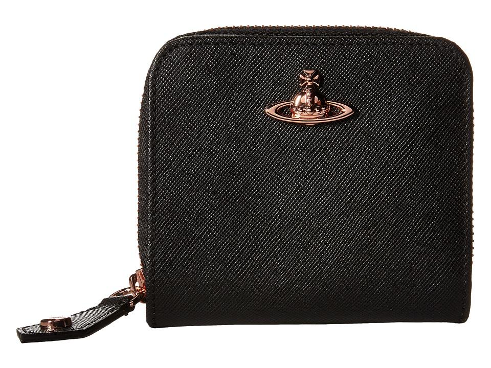 Vivienne Westwood - Opio Saffiano (Black) Wallet Handbags