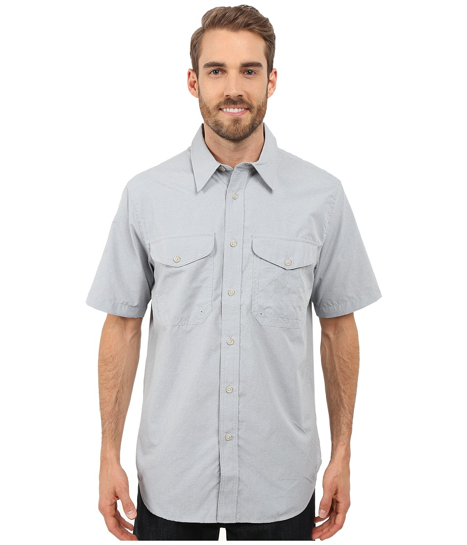 Filson Twin Lakes Short Sleeve Sport Shirt Stone Blue Mens Clothing