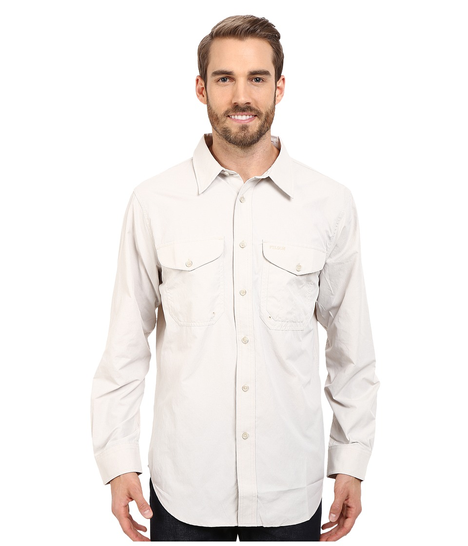 Filson Twin Lakes Sport Shirt Desert Tan Mens Long Sleeve Button Up