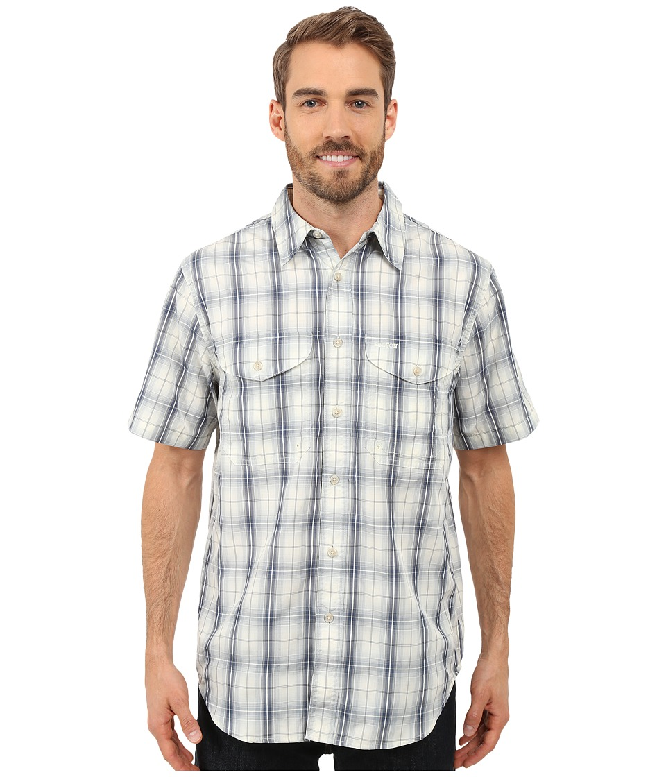 Filson Twin Lakes Short Sleeve Sport Shirt Slate Blue Mens Clothing