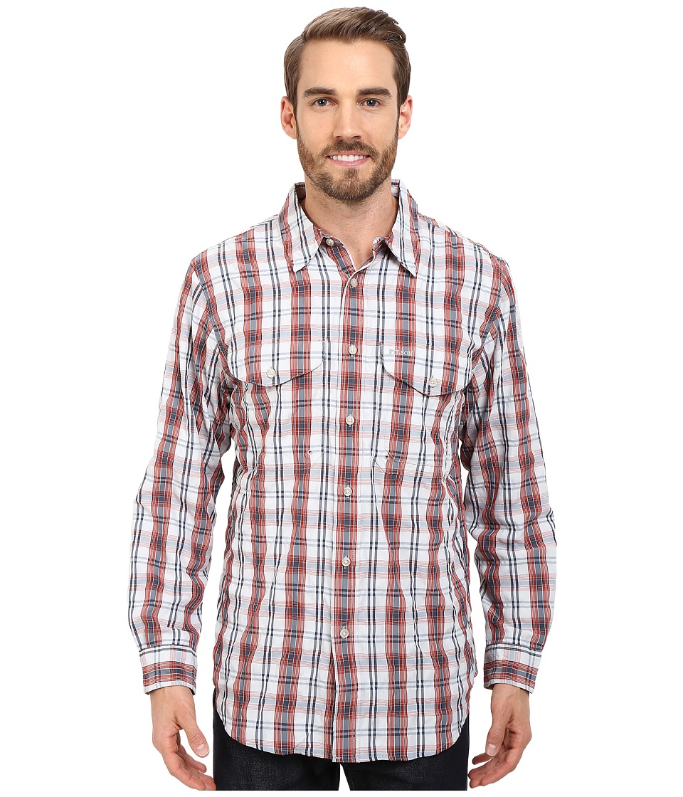 Filson Twin Lakes Sport Shirt Blue/Picante Mens Clothing