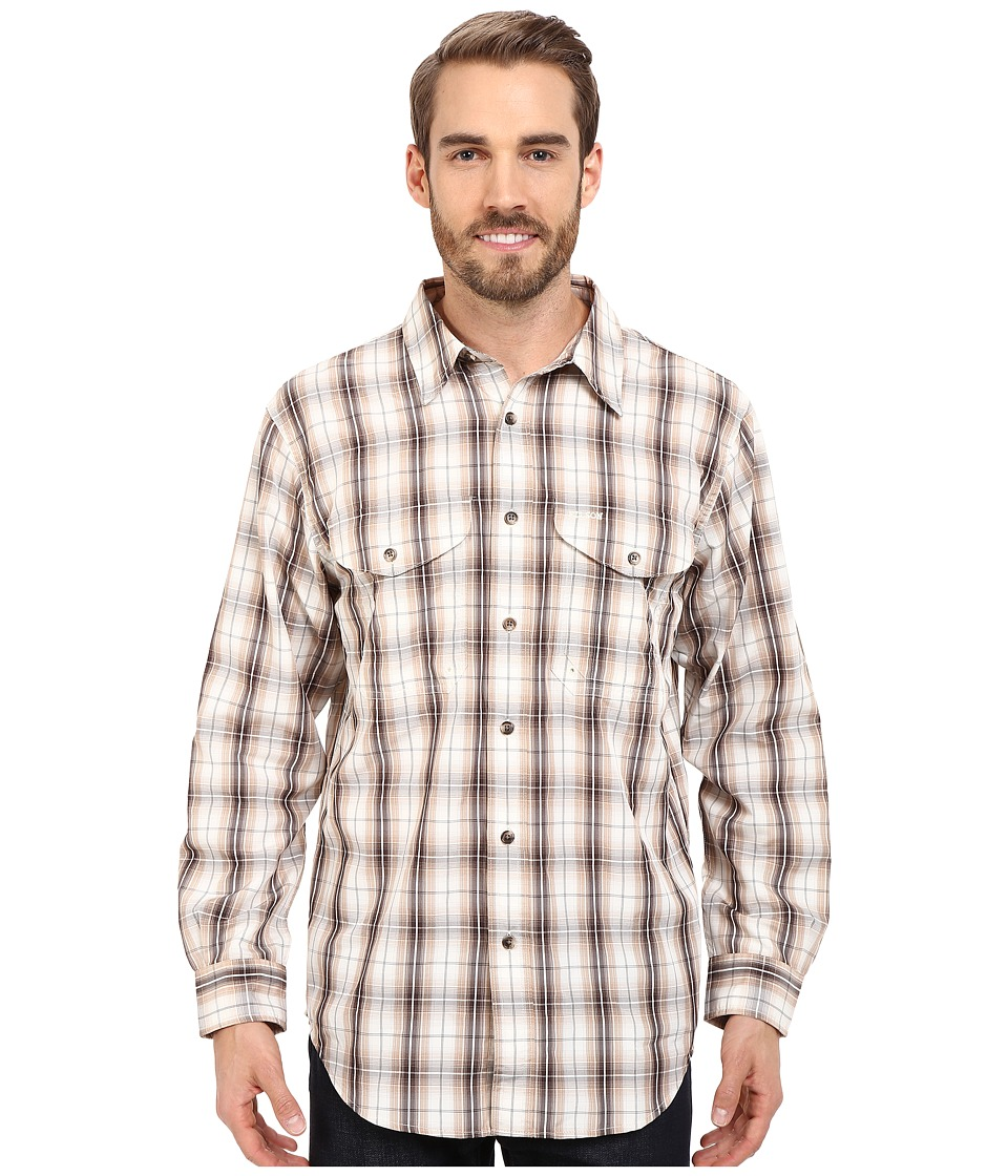Filson Twin Lakes Sport Shirt Brown/Stucco Mens Clothing