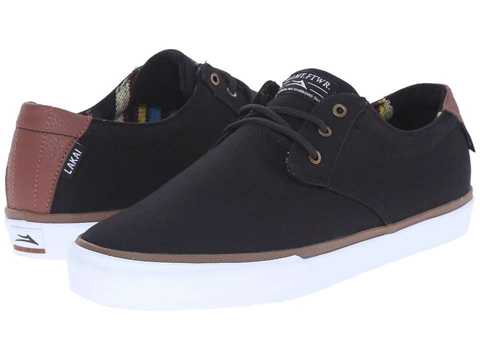 Lakai MJ Black/Brown Canvas Mens Skate Shoes