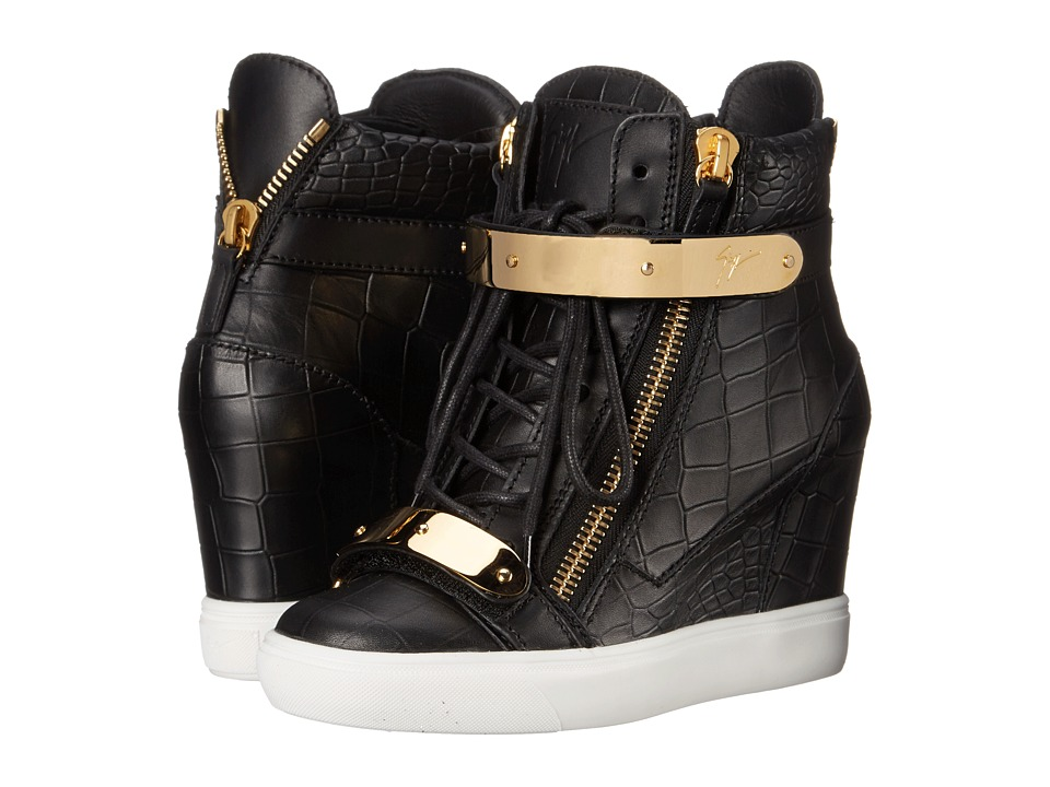 Giuseppe Zanotti Print Wedge with Ankle Band (Ringo Nero) Women