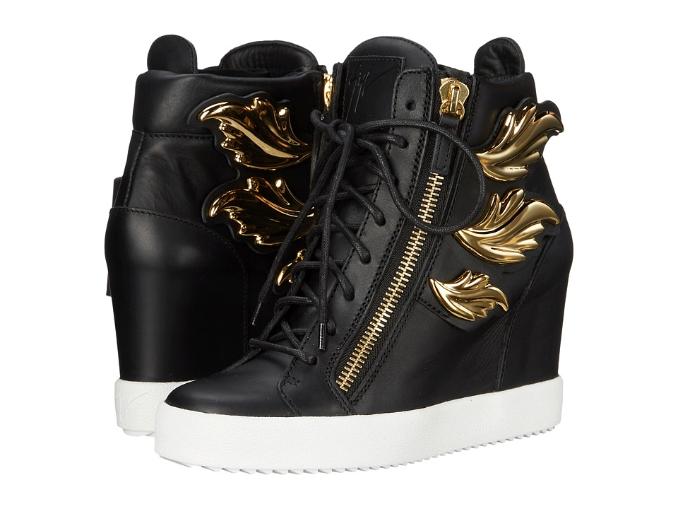 Giuseppe Zanotti - Hi-Top Wedge Winged Sneaker (Birel Nero) Women