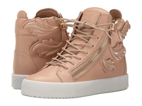 Giuseppe Zanotti Hi-Top Winged Sneaker - Birel Shell